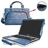 ASUS X541SA X541NA X541UA Housse,2 en 1 spécialement conçu Etui de protection en cuir PU + sac portable Sacoche pour 15.6' ASUS VivoBook Max X541SA X541UA X541NA ordinateur(NON compatible avec Asus X540/X542),Bleu