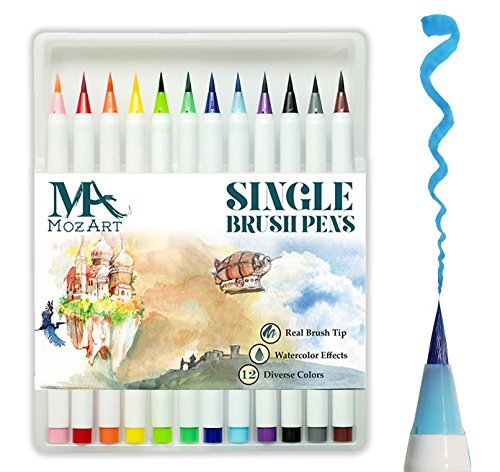MozArt Supplies Set Multicolor Rotuladores Punta Pincel