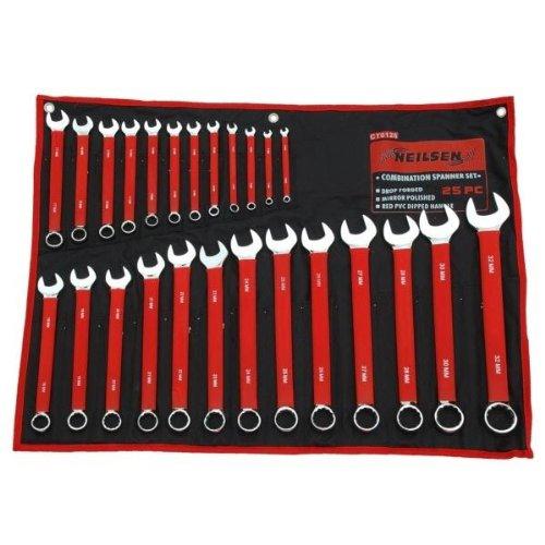 Neilsen Jeu de clés plates CT0126 6-32 mm – Rouge (25 pièces)