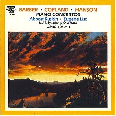 Barber Copland Hanson: Piano Concerti (UK