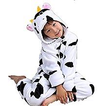 Disfraz Pijamas Infantil Animales Divertidas Temporada Moda Varios Modelos y Tallas (110 (3-4 años), Vaca)