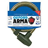 Oxford Bloqueo de Cable blindado Unisex arma20 X, humo, 22 mm x 900 mm