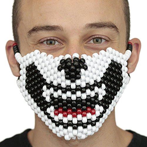 Full Kandi Mask by Kandi Gear, rave mask, halloween mask, beaded mask, bead mask for music fesivals and parties (Kandi Halloween)