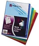 Rexel Nyrex Sichthüllen (Ober-/Unterblatt bündig, Format A4) 25 Stück farbig sortiert