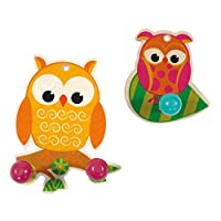 Hess 30315 Wooden 2 Owls Ward Robes Set Baby Toy, Small, Multi-Color