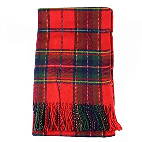 Echarpe Femme, Koly Nouveau Femmes Hiver Infinity Blanket ChâLe Surdimensionné Plaid VéRifiez Tartan Scarf Wrap