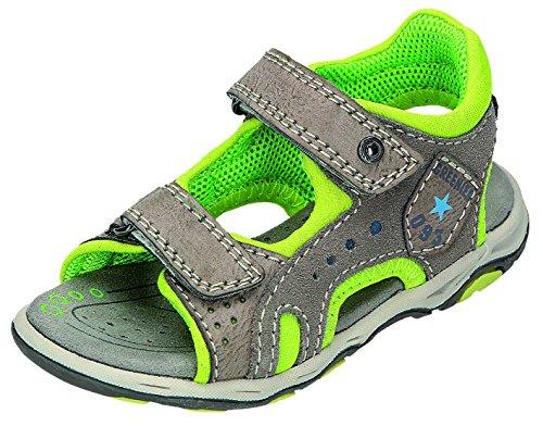 Greenies enfants sandales B. Velcro Sable. Gris - Grau/Grün