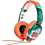 iDance Ibiza DJ-Kopfhörer, Orange / Weiß / Grün