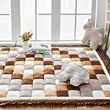Unbekannt #Wohnzimmerteppich Dicker Haushalt Teppiche Schlafzimmer Full Shop Rechteck Nachttisch Couchtisch Crawling Matten Decken (Farbe : D, Größe : 110×200cm)