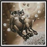 Togelei 5D Stickerei Gemälde Strass eingefügt DIY Diamant Malerei Kreuzstich Dekoration Aufkleber Wandaufkleber Room Decor Aufkleber Diamant Zeichnung Stickerei Sterben