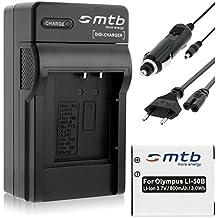 Batterie + Chargeur (Auto/Secteur) pour Olympus Li-50B / XZ-10... / Pentax WG-3 ... / Ricoh CX5 ... voir liste!