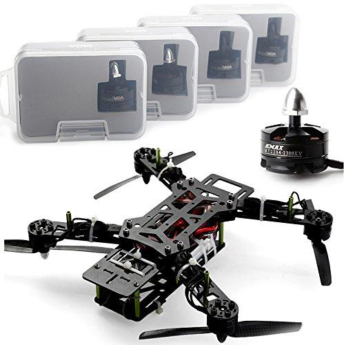 RC-Modellbau Hubschrauber Grün Nightawk 250 Quadcopter Carbon Combo + MT2204 Motor + 12A ESC + Prop &CC3D