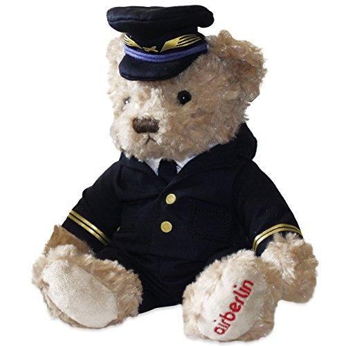 Sammlerstück: airberlin Teddy Pilot / Teddybär / Stofftier / Plüschtier mit Uniformjacke und Mütze (Teddybären Sammlerstücke)