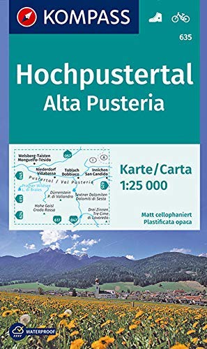 Carta escursionistica n. 635. Alta Pusteria-Hochpustertal 1:25.000. Ediz. bilingue: Wandelkaart 1:25 000