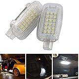 RunQiao LED Tür Lampe Kofferraumbeleuchtung Fussraum Beleuchtung Xenon Weiß Plug&Play