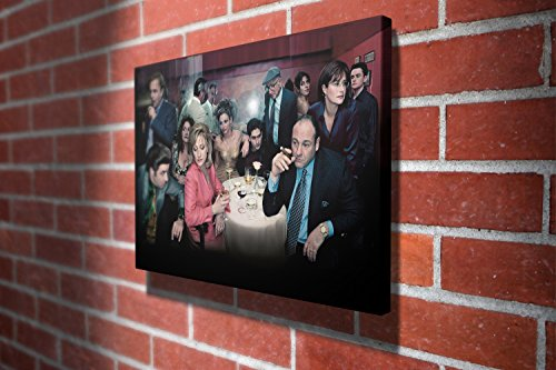 The Sopranos James Gandolfini Crime Drama Television Series Gallery Framed Canvas Art Picture Print