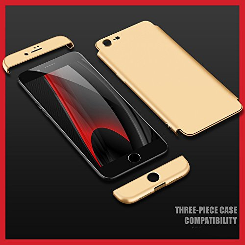 Vanki® Coque iPhone 6 Plus/6S Plus , Ultra Rigide Léger 360 Case Degres Souple 3-en-1 PC Récurer Protector Shell pour iPhone 6 Plus/6S Plus D'or