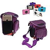 Navitech Étui de transport violet pour le Polaroid snap touch