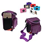 Navitech Purple Protective Portable Handheld Case and Travel Bag for the Polaroid snap touch