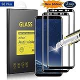 Samsung Galaxy S8 Plus Panzerglas Schutzfolie, Alfort 2 Stück Gehärtetem Glas Panzerfolie Displayschutzfolie Folie für Samsung Galaxy S8 Plus 6.2