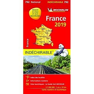 Michelin Frankreich 2019 (widerstandsfähig): Straßen- und Tourismuskarte 1:1.000.000 (MICHELIN Nationalkarten)