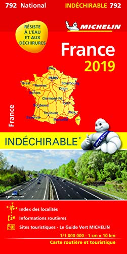 Carte France indéchirable Michelin 2019 par Michelin