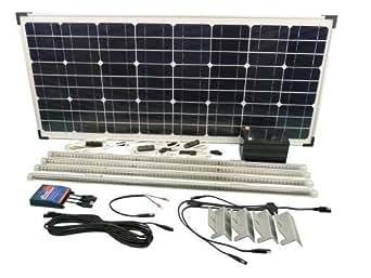 63W Kit d'éclairage à énergie solaire pour Garage/atelier hangar Stable & les toitures