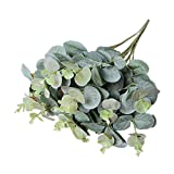 Jamicy Artificial Fake Leaf Eucalyptus Simulation Leaves Flowers Wedding Party Home Decor