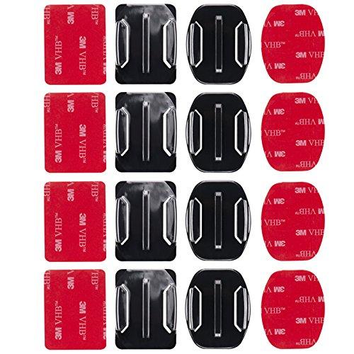 madridgadgetstore® 8gebogenen Halterungen flach und abgerundet + Aufkleber Stickers 3m...
