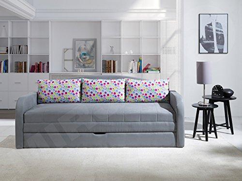 Schlafsofa Tenus II, Sofa Couch mit Bettkasten und Schlaffunktion ...