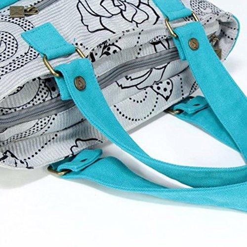 La signora coreana borsa di tela casuale/borsa a tracolla moda/borsetta-A B