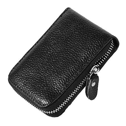 Portafoglio Uomo, Portafoglio porta badge, porta anti-furto Portafoglio per carta con portafoglio RFID ottimizzato per porta carte di credito, chiavi