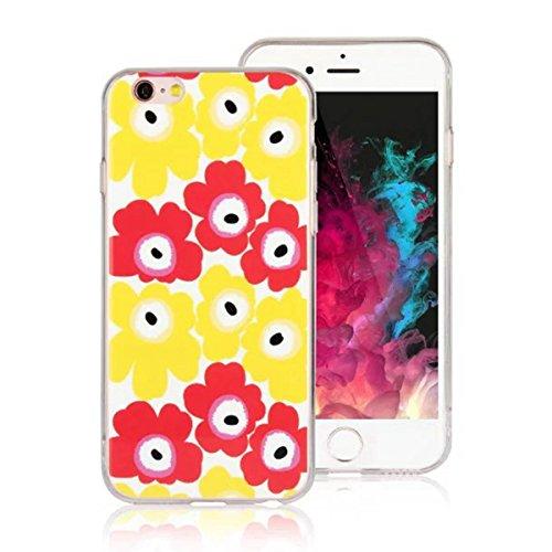 """MOONCASE iPhone 6 Coque, Ultra Mince Motif Etui Souple TPU Silicone Antichoc Housse Case pour iPhone 6 / 6s (4.7"""") (Fleur 05) Fleur 03"""