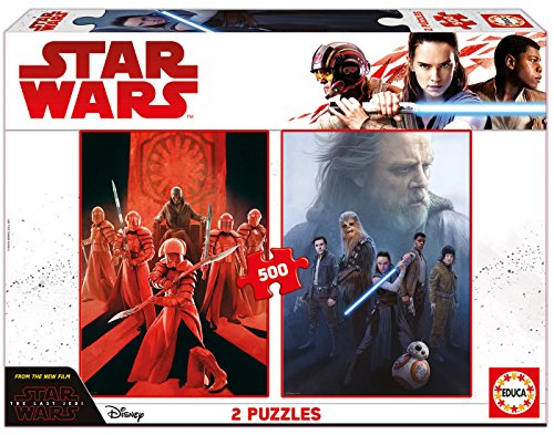 Educa borrás–17464–2x 500Puzzles Star Wars Episode VIII Star Wars Puzzle-educa