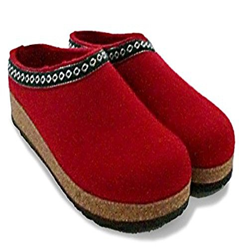 Haflinger Franzl 711001, Pantofole donna Rubin