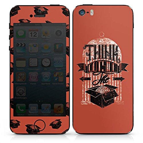Apple iPhone 5s Case Skin Sticker aus Vinyl-Folie Aufkleber Gedanken Selbstständig Statement DesignSkins® glänzend