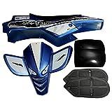 alamor Verkleidung Kit Komplett Kunststoffe Set für Mini Quad Bike ATV mit Sitz blau
