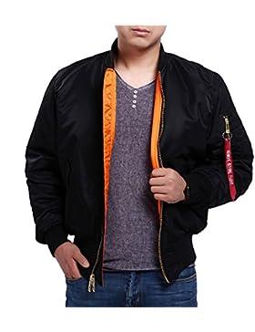 Seibertron Hombres de MA-1 Bombardero Vuelo chaqueta impermeable/Repelente de Agua