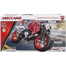 Meccano Elite Motorcycle Ducati Vehicle erector set 292pieza(s) - juegos de construcción (Vehicle erector set, 10 año(s), 292 pieza(s), Negro, Metálico, Rojo, Metal, China)