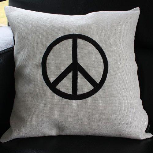 schwarz-weiß mit Peace-Zeichen, ca. 45 x 45 cm ()