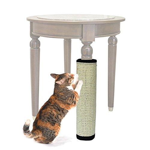Tappetino per gatti OWIKAR Cat Scratcher Gattino Tappetino per gatti Sisal naturale Scratcher per gatti con caratteristiche Supporto in velcro per avvolgere tavoli, divani, sedie, gambe mobili