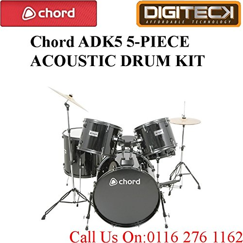 chord-adk5-5-piece-acoustic-padded-drum-set-with-kick-pedal-in-black