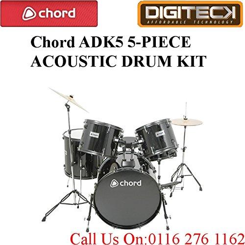 chord-adk5-5-pieces-acoustique-padded-drum-set-avec-kick-pedale-en-noir