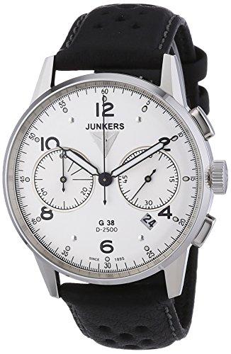 Junkers - 69841 - Montre Homme - Quartz Chronographe - Bracelet Cuir Noir