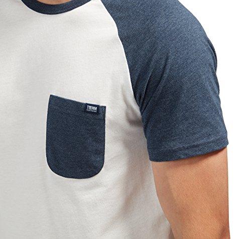 Tom Tailor Denim für Männer T-Shirt T-Shirt mit Raglan-Ärmeln black iris blue