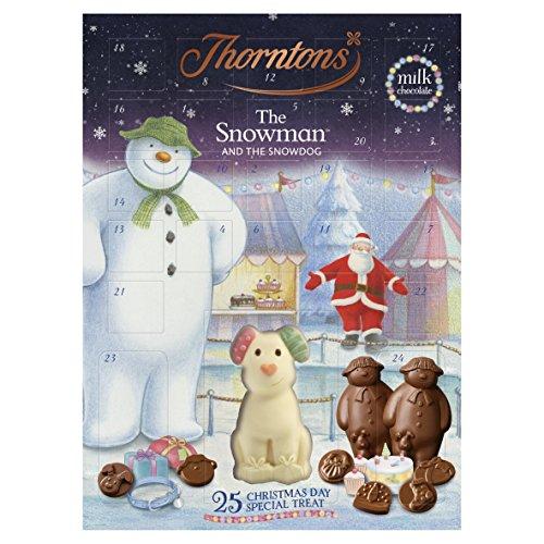 Thorntons Seasonal Snowman Advent Calendar Chocolates, 180 g