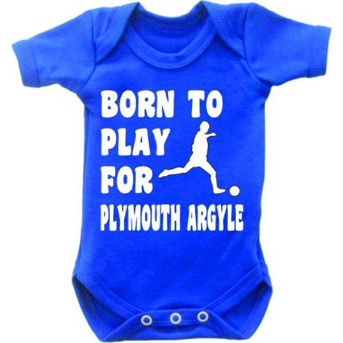 born-to-play-football-per-plymouth-argyle-tutina-per-bebe-a-maniche-corte-gilet-grow-motivo-bianco-e