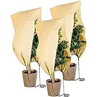 Royal Gardineer Pflanzen Winterschutz: 3er-Set Pflanzenabdeckungen als Winterschutz, 100x80cm, 80 g/m² (Pflanzenschutz-Hüllen)