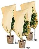 Royal Gardineer Pflanzen Winterschutz: 3er-Set Pflanzenabdeckungen ALS Winterschutz, 100x80cm, 80 g/m² (Pflanzensack)