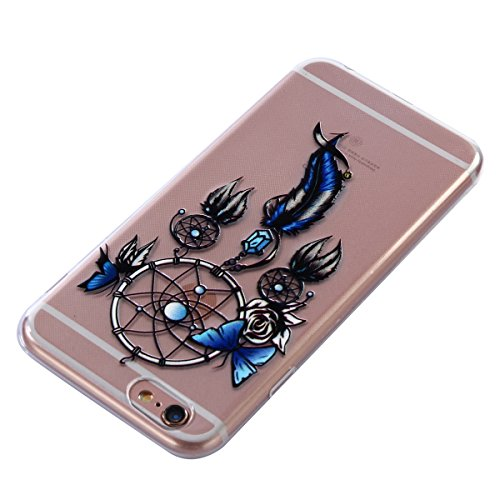 iPhone 6S Custodia, iPhone 6 Cover Silicone, JAWSEU Apple iPhone 6S/6 4.7 Case Caso TPU Ultra Sottile Cristallo Chiaro Luminoso Bella Modello Brillante Trasparente Custodia Cover per iPhone 6S Protezi Campanula